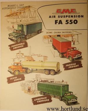 1957 GMC FA550 Air Suspension Truck Broschyr