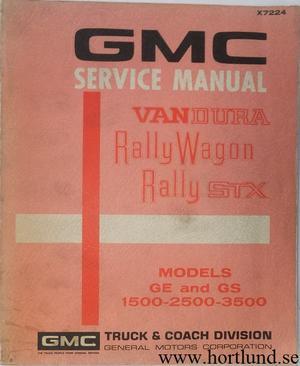 1972 GMC Van Service Manual