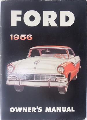 1956 Ford Owner's Manual original
