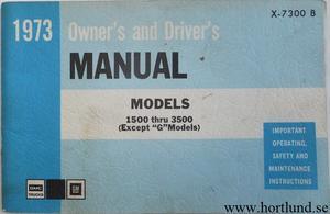 1973 GMC 1500-3500 Truck Owner's Manual 2:dra upplagan