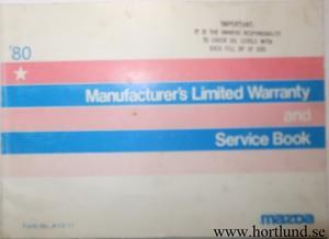 1980 Mazda Service Book 2:dra utg.