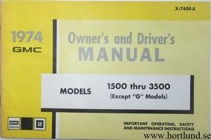 1974 GMC 1500-3500 Truck Owner's Manual