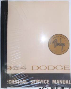 1964 Dodge Technical Service Manual Polara Dart