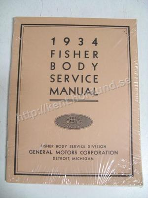 1934 Fisher Body Service Manual
