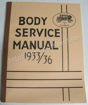 1933-1936 Fisher Body Service Manual