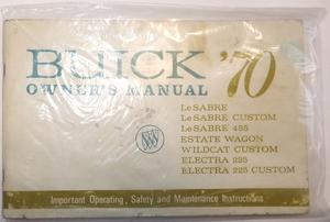 1970 Buick LeSabre Electra Wildcat Owners Manual