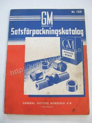 1937-50 GM Satsförpackningskatalog Svensk
