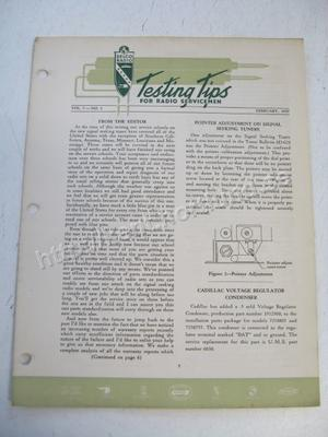 1950 Delco Radio Testing tips for radio servicemen February 1950