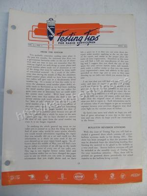 1951 Delco Radio Testing tips for radio servicemen May 1951
