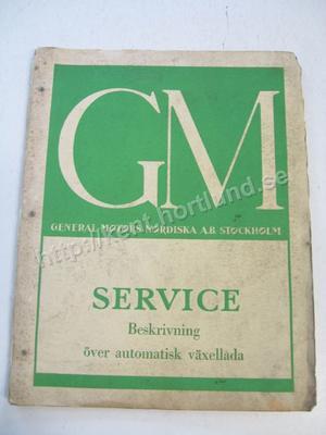 1948-50 GM Service Beskrivning över automatisk växellåda