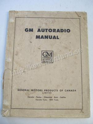 1953 GM Autoradio Manual