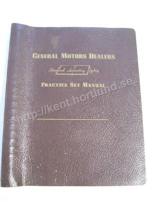 1958-59 GM Dealers Standard Accounting System Practice Set Manual