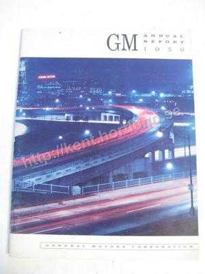 1959 GM annual Report 1959
