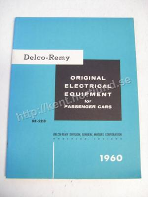 1960 Delco-Remy original Electrical Equipment for passanger cars