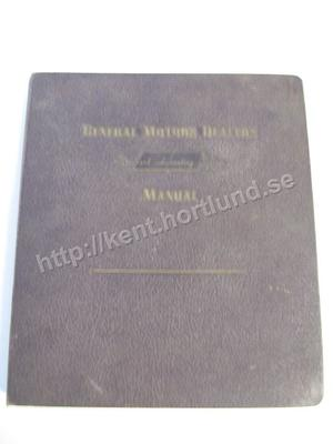 1955 GM Motor Dealers Standard Accounting Systems Manual