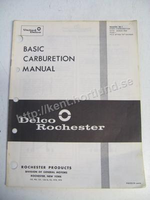 1964 Delco Rochester Basic Carburetion Manual