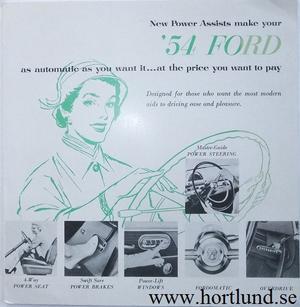 1954 Ford Tillbehörsbroschyr