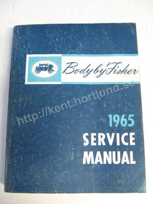 1965 Fisher Body Service Manual