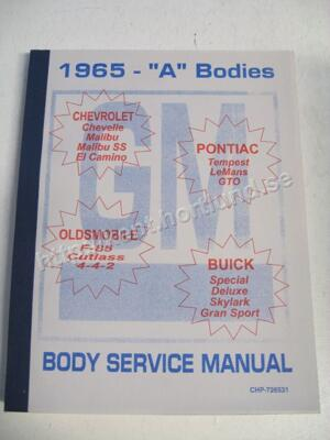 1965 Fisher Body Service Manual A Bodies