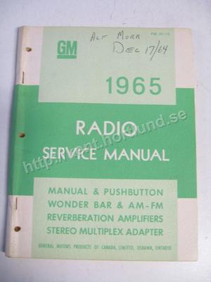 1965 GM Radio Service Manual