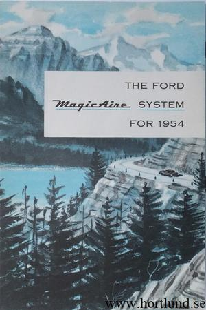 1954 Ford Magic Aire broschyr
