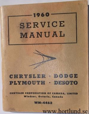 1960 Chrysler, Imperial, Dodge, De Soto, Plymouth Service Manual supplement