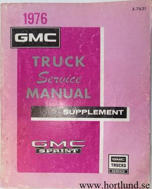 1976 GMC Sprint Service Manual supplement