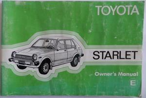 1980 Toyota Starlet Owner's Manual