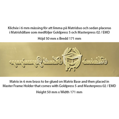 Matrix 6mm brass for glueing - Goldpress 5