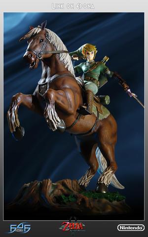 The Legend of Zelda - Twilight Princess: Link on Epona Statue