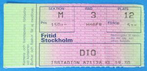 DIO - Stockholm 1987