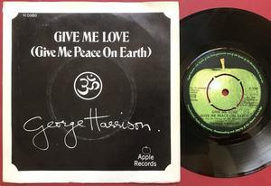 "GEORGE HARRISON - Give me love 7"" Swe PS 1973"
