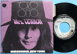 "YOKO ONO (Beatles) Mrs Lennon 7"" Fransk PS 1971"