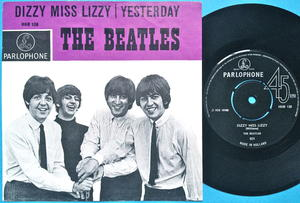 "BEATLES - Dizzy Miss Lizzy 7"" Holland PS 1965"