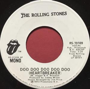 ROLLING STONES - Doo doo doo doo doc (Heartbreaker) US PROMO 45 1973