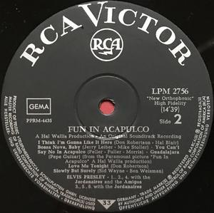 ELVIS PRESLEY - Fun in Acapulco German LP 1963