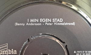 ANNI-FRID LYNGSTAD - I min egen stad MISPRESS Swe 45 1971