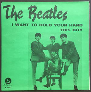 "BEATLES - I want to hold your hand 7"" Swe-63 SUPERRARE GREEN / MINT(-)!"
