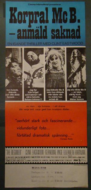 KORPRAL MC B. ANMÄLD SAKNAD (CLINT EASTWOOD)