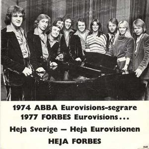 ABBA / FORBES 1977 photo. Very rare!