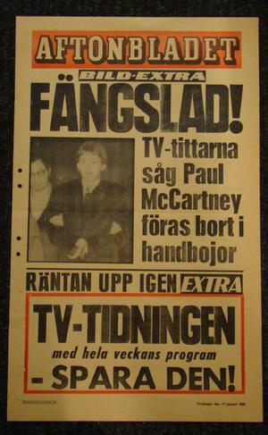 LÖPSEDEL AFTONBLADET (PAUL McCARTNEY)