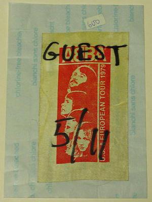 ABBA - Backstage pass 1979