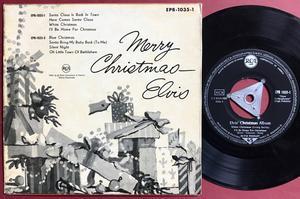 ELVIS PRESLEY - Christmas album - vol 1 German EP Silver tri 1958