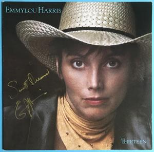 EMMYLOU HARRIS - Thirteen SIGNERAD LP 1986