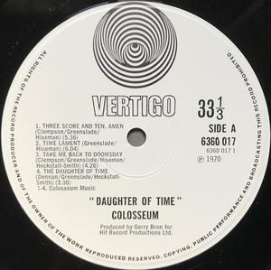 COLOSSEUM - Daughter of time UK Vertigo LP 1970