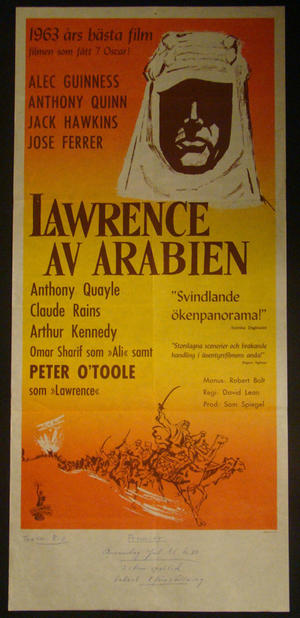 LAWRENCE OF ARABIA (PETER O´TOOLE, ALEC GUINNESS, ANTHONY QUINN)