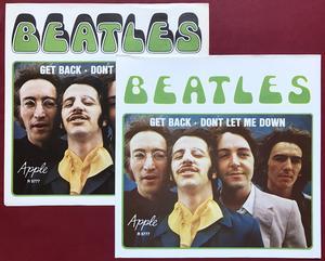 "BEATLES  - Get back 7"" MISPRINTED Swe PS 1969"