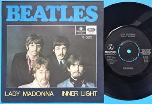 "BEATLES - Lady Madonna 7"" Swe PS 1968 M(-)!"
