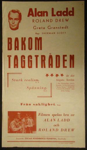 BAKOM TAGGTRÅDEN (1947)