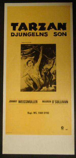 TARZAN THE APE MAN (JOHNNY WEISSMULLER)